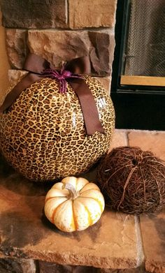 Leopard duct tape pumpkin. Total cost $8 Meow!