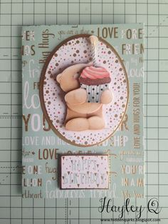 Forever Friends Classic Decadence | docrafts.com Crafty Projects, Projects To Try, Forever Friends Cards, Kids Birthday Cards, I Card, Cardmaking, Decoupage, Beren, Men's Cards