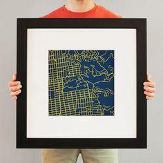 University of California, Berkeley | City Prints Map Art