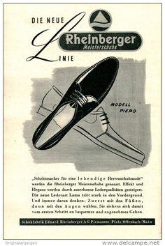 Original-Werbung/Inserat/ Anzeige 1955 -  MODE: RHEINBERGER SCHUHE ca. 180 x 120 mm