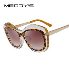 8afec6db6e0e All New Fashion Women Cat Eye Sunglasses Big Frame Metal Temples Brand  Designer Sunglasses UV400