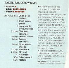 Baked falafel wraps
