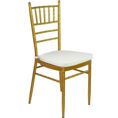 Gold Tiffany Chair with Ivory Cushion