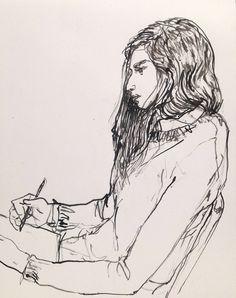 Aubrey drawing, nyc. Gregory Muenzen