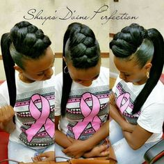 Curly Crochet Braids with Burgundy Highlights - 20 Braids for Curly Hair That Will Change Your Look - The Trending Hairstyle Black Ponytail Hairstyles, Ponytail Styles, Braided Ponytail, Girl Hairstyles, Braided Hairstyles, Curly Hair Styles, Natural Hair Styles, Mohawk Ponytail, Braided Mohawk