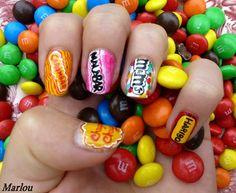 Des ongles colorés très gourmands !