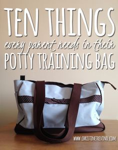 Potty training is an ordeal for everyone. Help cut out the hassle of leaving the house by keeping your potty training bag stocked with these ten items. Best Potty, Toddler Potty Training, Potty Training Rewards, Kids Potty, Toilet Training, Training Tips, Dog Training, Babe, House