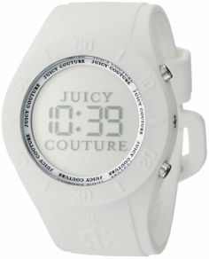 Juicy Couture Women's 1900880 Sport Couture Digital White Jelly Strap Watch Juicy Couture. $95.00. Digital watch. Oversized sport case and strap. Hour/minute, seconds and date function; adjustable strap. Water-resistant to 99 feet (30 M). Pop of color