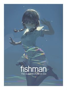 """fishman ""make it beautiful"""" Art And Illustration, Illustrations And Posters, Character Illustration, Anime Art Girl, Manga Art, Fantasy Kunst, Fantasy Art, Pretty Art, Cute Art"