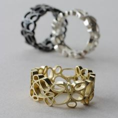 Okay, no room for an inscription ... who cares when you get a ring like this?  Danish Crafts - Lisbeth Dauv