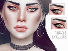 Sims 4 CC's - The Best: Eyeliner & Lipstick by Pralinesims