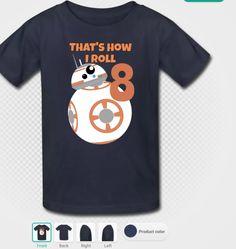 New to DotcaShop on Etsy: The Force Awakens   BB8 t-shirt   Boys   Economy shipping (30.43 CAD)