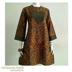 African Wear, African Dress, African Fashion, Blouse Batik, Batik Dress, Dress Batik Kombinasi, Batik Fashion, Tunic Designs, Loose Dresses