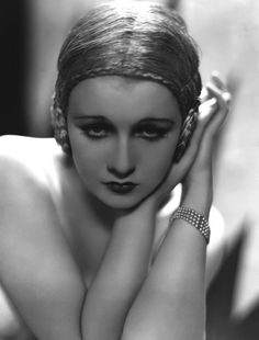 """Anita Page """"the girl with the most beautiful face in Hollywood"""" in the 1920s."""