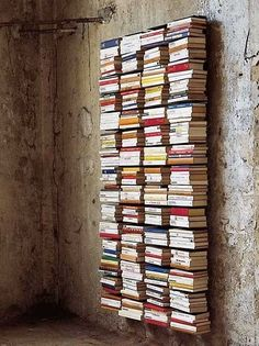 DIY inspiration: invisible bookcase (via How to Decorate with... | my ideal home... | Bloglovin'