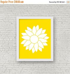 30% Off Christmas Sale Sunflower Silhouette by ColourscapeStudios