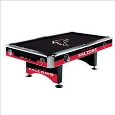 "#Atlanta #Falcons Pool Table....Must go in my husband's ""Man Cave"""
