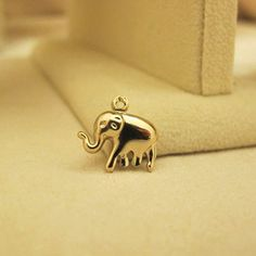 Light gold 1pc 12mm Elephant Charms Pendant by Jimmyaccessories, $0.99