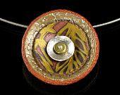 Polymer Clay Jewelry - Mokume Gane - Polymer Clay Pendant - Art Jewelry - Gilded  Palms