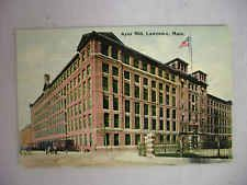 VINTAGE POSTCARD VIEW OF THE AYER MILL IN LAWRENCE MASSACHUSETTS 1912