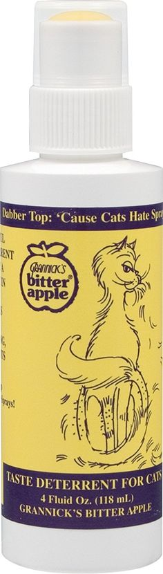Grannick Bitter Apple Spray with Dabber Top for Cats 4oz * Click image to review more details. (This is an Amazon affiliate link)