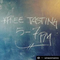 @wineonmainnc with @repostapp  When it's Tuesday it's FREE Tuesday tasting night at Wine On Main! This week enjoy an amazing Ramsey Cabernet Sauvignon  Bread & Butter Pinot Noir Bread & Butter Chardonnay and a soon to be unavailable Healdsburg Ranch Zinfandel. All brought to you by Fine Wine Trading Company and your friends at Wine On Main tonight from 5 to 7 PM! Don't miss it!#music #food #wine #winetasting #beerme #pinotnoir #cabernetsauvignon #chardonnay #freetime #friends #fun