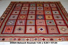 """Balouch Soumak, 7-3 x 9-4 by A Rug For All Reasons   Handknotted pile combined with a soumak weave, these Balouch Soumak rugs are arguably the most charming rugs to come out of the rug-making world. Tightly woven and very interest (some people call them """"story: rugs), the pictures we provide don't really do them justice. These are one of those rugs that becomes a member of your household! Natural-dye wool, handwoven in Iran."""