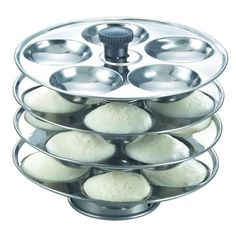 Prestige Stainless Steel 4 Plate Idli Stand  Makes 20 Idlis *** Click on the image for additional details.
