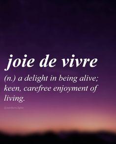 English with French origin //zhwaduh vee-vruh//