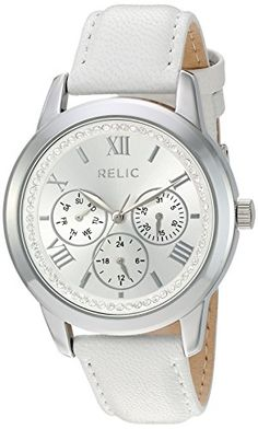 Relic Women's 'Kendall strap' Quartz Metal and Alloy Casual Watch, Color:Silver-Toned (Model: ZR15832). Band width: 18 mm. Case diameter: 38 mm. Analog-quartz Movement. Case Diameter: 38mm. Water Resistant To 165 Feet.