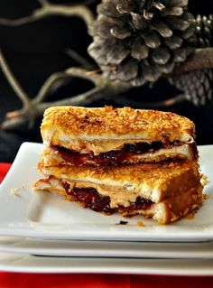 Cornflakes Crusted Grilled Peanut Butter & Jelly Sandwich