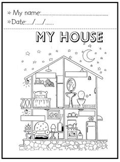 Cube with the parts of the house worksheet - free esl printable worksheets English Worksheets For Kindergarten, English Activities, Teaching Activities, Kids English, English Lessons, Learn English, English English, Education English, Teaching English