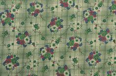 Vintage Cotton Floral Fabric Plaid Fabric Gauze by #TheFabricScore www.thefabricscore.etsy.com  #fabric #vintage #sewing #crafts #diy
