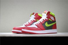 901b6a98dbb5 Men s and Women s Air Jordan 1 Retro High OG White Red Dark Green 555088