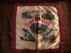 Vintage Camp Drum NY US Army Summer Training Site Pillow Cover Sham Excellent | eBay
