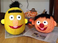 Bert & Ernie glitter pumpkins