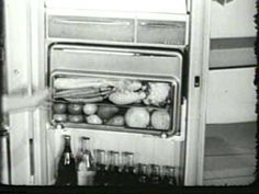 I would like a fridge like the one in this 1956 Frigidaire Refrigerator ice box Commercial - It is almost as if they devolved instead of evolved...Vio~