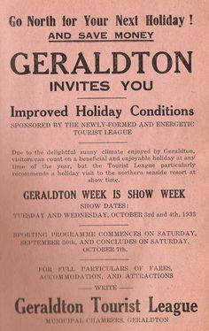 1933 Carnamah Show Schedule Australian Vintage, Next Holiday, Vintage Posters, Ephemera, Avon, Schedule, Saving Money, Advertising, Conditioner