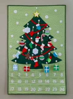 Love this pattern for a quilted advent calendar and felt ornaments from Andy at A Bright Corner