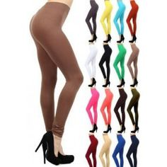 Basic Solid Color Leggings