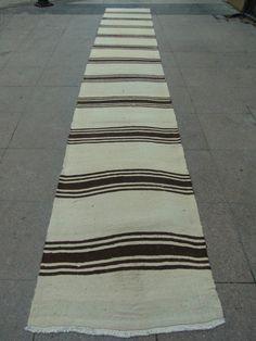 $380.00 15.3 x 2.2 feet 100% Organic WoolTraditional Handmade Anatolian Kilim by zkrugs