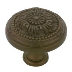 Able 16 Small Knobs Pulls Handles Solid Aged Brass Door Old Style Drops Kitchen 29mm Refreshment Antiques
