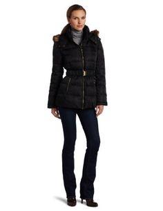 Jones New York Women's Short Belted Down Coat Jones New York. $100.00. Made in China. 100% Polyester. Jones new york short belted coat. Belted coat. Machine Wash