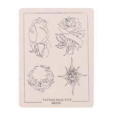 P005 Flower Pattern Tattoo Practice Skin Simulation Sheet - Gchoic.com