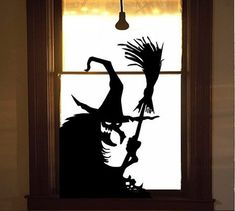 Wicked Witch – Halloween Wall Or Window Decal Böse Hexe # 11 – Halloween Wand- oder Fensteraufkleber Spooky Halloween, Fete Halloween, Outdoor Halloween, Holidays Halloween, Halloween Crafts, Halloween School Treats, Happy Halloween, Halloween Bedroom, Halloween Window Silhouettes