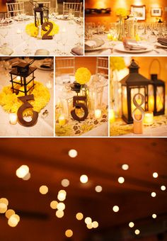 Yellow and gray wedding.