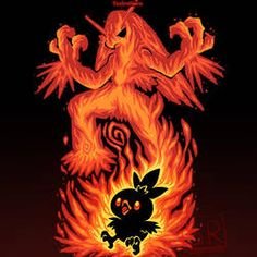Inner Fire Bird - Torchic and Blaziken by SarahRichford on DeviantArt Pokemon Dragon, Ghost Pokemon, Pokemon Memes, Pokemon Fan Art, Charmander Charmeleon Charizard, Pokemon Eeveelutions, Festa Pokemon Go, Equipe Pokemon, Deadpool Pikachu
