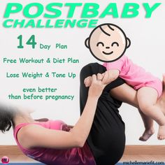14 Day PlanFree Workout & Diet Plan Lose Weight & Tone Up even better than before pregnancy