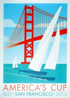 clip art for America's Cup Boat Design | AMERICA'S CUP / 1851 – SAN FRANCISCO – 2013 poster