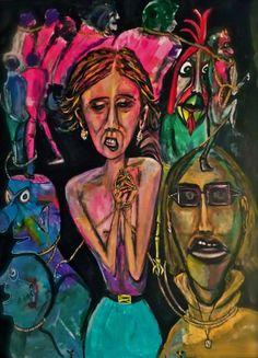 "Bild-Titel ""forced prostitution""                             Format  200x150 cm"